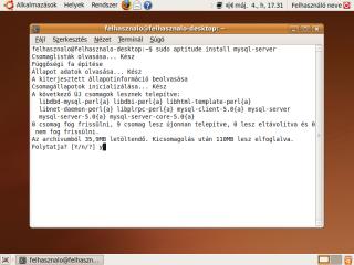 mysql-server telepítésének megerősítése