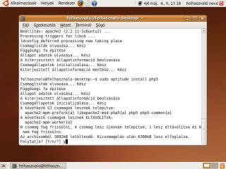 php5 telepítésének megerősítése